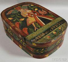 Kaufman Paint-decorated Wedding Box