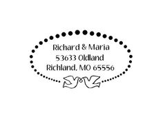 wedding doves custom return address rubber stamp by terbearco, $29.99