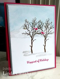 Wintry Scene by - Cards and Paper Crafts at Splitcoaststampers Winter Cards, Holiday Cards, Christmas Cards, Christmas 2019, Merry Christmas, Sympathy Cards, Stamping Up, Stampin Up Cards, I Card