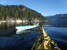 Kayaking at Deep Cove
