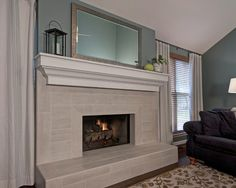 Stone Tile Fireplace Design, Pictures, Remodel, Decor And Ideas