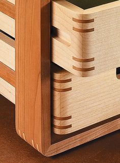 Three-Tiered In-Box | Woodsmith Plans - Identical trays make this stylish desk organizer go together quickly. But the joinery lets you show off your woodworking skills.