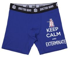 Doctor Who Keep Calm and Exterminate Boxer Briefs (X-Large) Geek Toys, Thing 1, Boxer Briefs, Keep Calm, Doctor Who, Underwear, Geek Stuff, Geeks, Geek Things