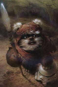 Star Wars: Return of the Jedi - Ewok with Stormtrooper Helmet
