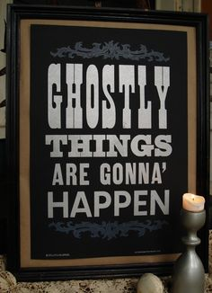 Southern Gothic: Ghostly Things Halloween Print by Roll and Tumble for Bourbon & Boots | SoGoPro
