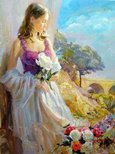 Volegov Originals   Vladimir Volegov Paintings - Vladimir Volegov Thoughts of Springtime ...