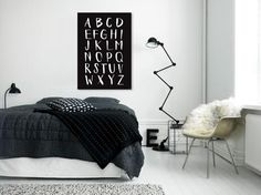 spoon. ABC POSTER BIG BLACK art print 70x100 (Picture from bungalow5.dk)