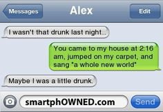 Funny texts discovered by Ivy on We Heart It - Funny Quotes I Wasnt That Drunk Texts, Funny Drunk Texts, Funny Text Messages Fails, Funny Texts From Parents, Text Jokes, Drunk Humor, Funny Relatable Memes, Funny Fails, Funny Quotes