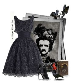 Edgar Allen Poe by love-n-laughter on Polyvore featuring polyvore, fashion, style, Suzy Perette, Dsquared2, Dolce&Gabbana, Casetify and clothing