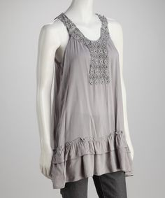 Take a look at this Silver Yoke Tank by Days of Color: Women's Tops on @zulily today!