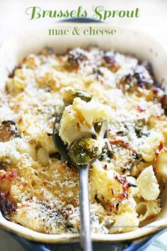 Yummy Mummy Kitchen Reader Favorite: Baked Brussels Sprouts Mac and Cheese  Vegetarian Recipe