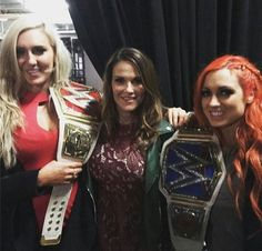 Becky, Charlotte, and Lita
