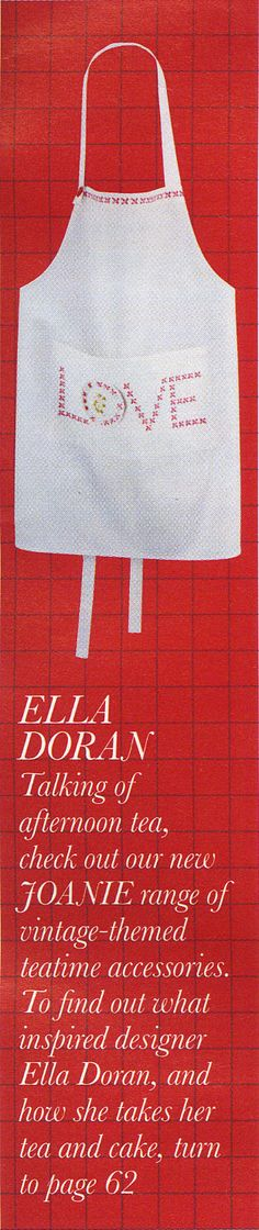 Love your home - Habitat Spring/Summer edition, Joanie love apron by Ella Doran
