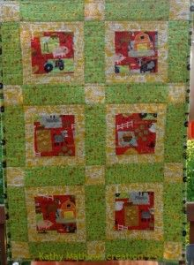 Moo!  It's a farm quilt.