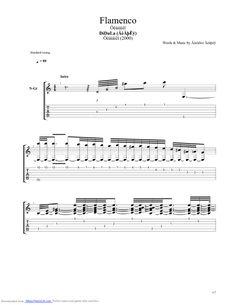 Flamenco guitar pro tab by Didula @ musicnoteslib.com