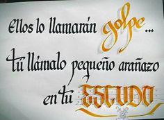 Frase motivadora. Caligrafía Antonio Ayala.#366 #caligraffiti #caligrafia #frase #cita #escudo