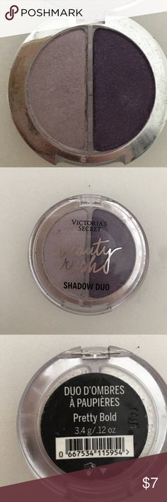 """Victoria's Secret beauty rush purple eyeshadow 2 shades. Color is """"pretty bold"""". Lighter purple swatches a few times. Victoria's Secret Makeup Eyeshadow"""