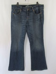 American Eagle stretch favorite boyfriend jeans womens size 14 regular #AmericanEagleOutfitters #Boyfriend