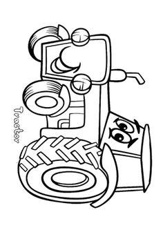 traktor ausmalbilder 03 | bauernhof malvorlagen
