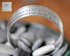 Hand Stamped Aluminum Bangle Cuffs  Set of by HeartAndSolDesigns, $36.00