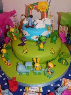 adorno de torta baby tv, souvenirs infantiles!!!