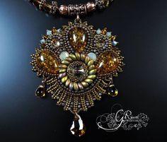 Bead embroidery Bead Embroidery Jewelry, Soutache Jewelry, Beaded Embroidery, Beaded Jewelry, Beaded Brooch, Metal Clay, Jewelry Art, Jewellery, Bead Weaving