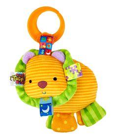Orange Lion Friend for Me Clip-On Plush Toy