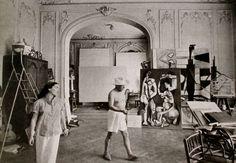 Znalezione obrazy dla zapytania painters atelier  picasso