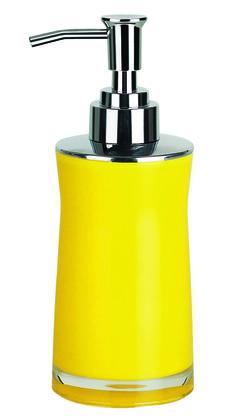 #Spirella Sydney Acrylic Yellow Soap Dispenser. #bathroom #yellow