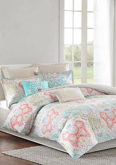 navy blue coral teal grey comforter - google search   adelyn's