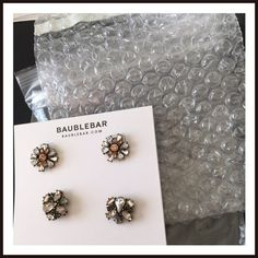 Bauble Bar earrings (two pairs) New Bauble Bar earrings. Two pairs. Only taken out of packaging to photograph. Bauble Bar Jewelry Earrings