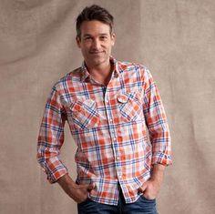 Jachs orange plaid shirt $49.99