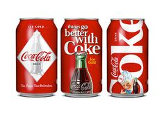 """""""Peter Gregson designed a series of 6 different Coca-Cola cans for the celebration of Coca Cola's 125th anniversary. We used old Coca-Cola ads and posters (from 1930's, 1940's) and implemented them in order to create the can that would remind of the Coca Cola's longevity and, at the same, be something completely new."""""""