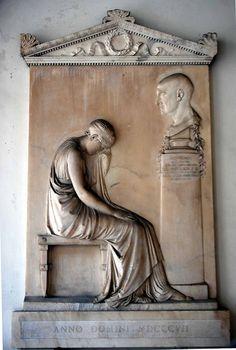 ❤ - Antonio Canova. Stele funeraria dell'incisore Giovanni Volpato. Basilica dei Santi XII Apostoli - Roma.