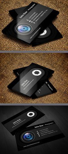 Photographer Business Card Template #businesscards #printready #letterpress #creativedesign #graphicdesign