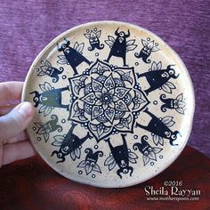 Monster Mandala  small plate by MotherSpoon on Etsy