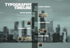 Vector timeline template with photos by Orson on @creativemarket