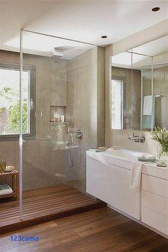 Badkamer met inloopdouche en inbouwkast | Badkamer inspiratie ...