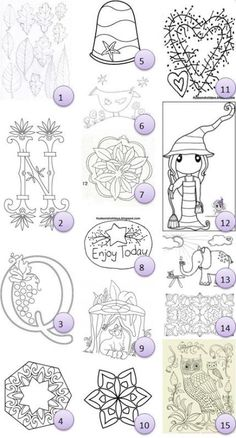Free hand-embroidery patterns · Needlework News | CraftGossip.com #3 has beautiful monograms in several styles