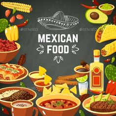 Mexican Food Illustration  #salsa #beef • Download ➝ https://graphicriver.net/item/mexican-food-illustration/10927637?ref=pxcr