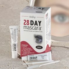 28-Day Mascara, This permanent eyelash tint delivers rich, long-lasting color that doesn鈥檛 need to be reapplied for up to four weeks. Approved by the Cosmetology Board, it is fast-acting, non-toxic and doesn鈥檛 contain coal tar derivatives or bleaching agents. Contains 25 applications for up to two years of gorgeous lashes. Choose black or brown.