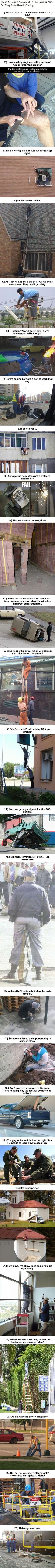 The phrase 'Safety First' means nothing to these 25 people... - Misc