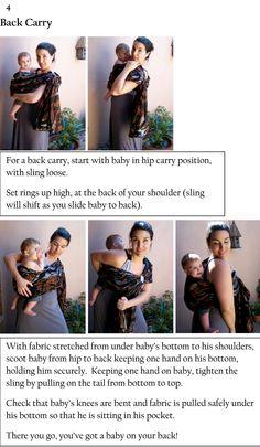 Back carry. Baby bug ring sling. #babywearing #backcarryinstructions #babybackpack #ringslingbabycarrier