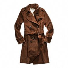 SUEDE FULL LENGTH TRENCH
