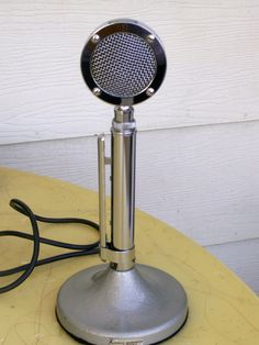 Astatic  D-104 Mic  Chrome 4 pin connect CB Ham Radio lollypop style. $125.00, via Etsy.