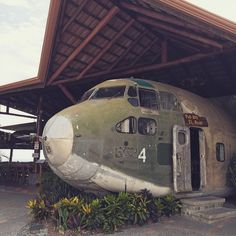 """If you happen to be in the Quepos neighborhood (that's in Costa Rica) stop by El Avion. Best looking bar"