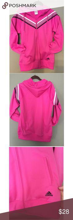 NWOT Adidas Zip Up Hoodie Striped Hoodie Jacket Adidas Tops Sweatshirts & Hoodies