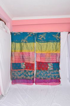 SO NOW WHAT?  Do I buy these or keep up the project I started to make my own? Is it worth the time/money? WHAT TO DO??? Handmade Gypsy Draperies Boho Upcycled Textiles by IndianHippy