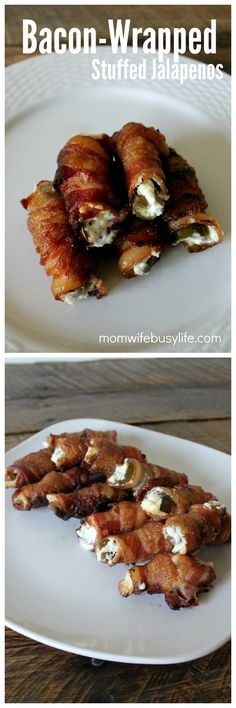 Bacon Wrapped Stuffed Jalapenos | Jalapeno Appetizer Recipes | Cream Cheese Stuffed Jalapenos with Bacon