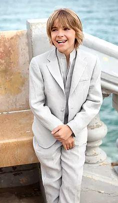 Trajes de Comunión niño lino estilo Ibicenco,